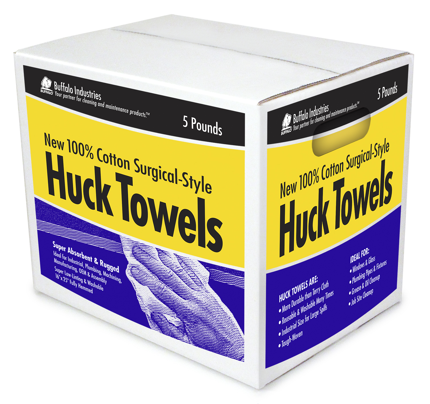 BF-12035 Huck Towels 5 lb. Box
